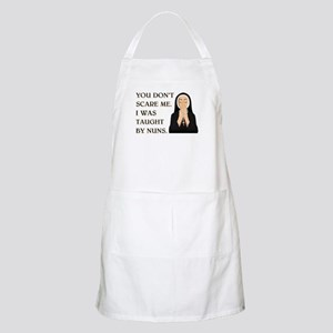 TAUGHT BY NUNS Apron