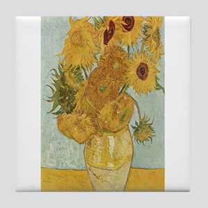 Vincent van Gogh's Sunflowers Tile Coaster