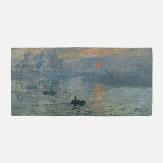 Funny Claude monet Beach Towel