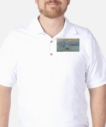 Claude Monet's Impression, Soleil Levan Golf Shirt