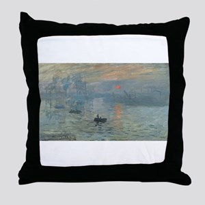 Claude Monet's Impression, Soleil Lev Throw Pillow