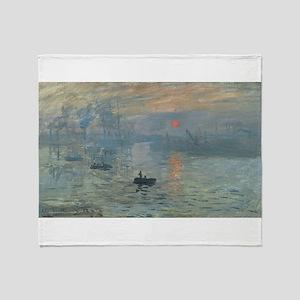 Claude Monet's Impression, Soleil Le Throw Blanket