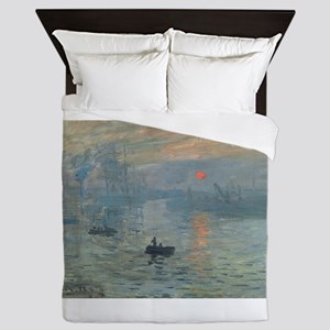 Claude Monet's Impression, Soleil Leva Queen Duvet