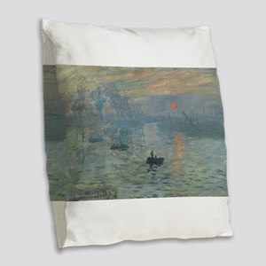 Claude Monet's Impression, Sol Burlap Throw Pillow