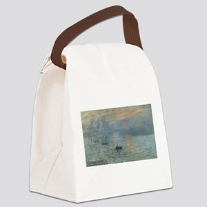Claude Monet's Impression, Soleil Canvas Lunch Bag