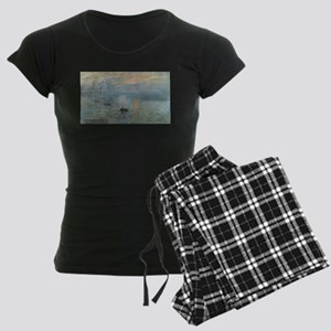 Claude Monet's Impression, S Women's Dark Pajamas