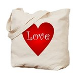 Love Heart Poem Tote Bag