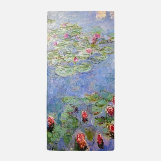 Cute Monet water lilies Beach Towel