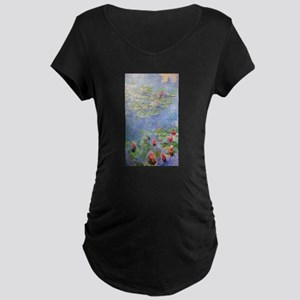 Claude Monet's Water Lilies Maternity T-Shirt