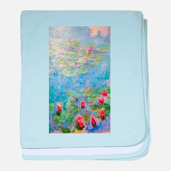 Claude Monet's Water Lilies baby blanket