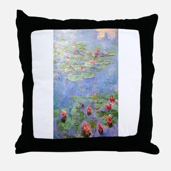 Claude Monet's Water Lilies Throw Pillow