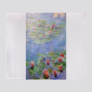 Claude Monet's Water Lilies Throw Blanket