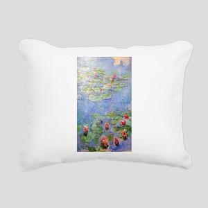 Claude Monet's Water Lil Rectangular Canvas Pillow