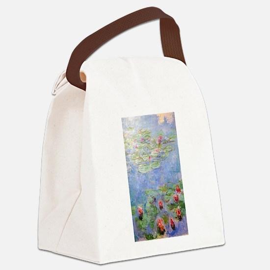 Claude Monet's Water Lilies Canvas Lunch Bag