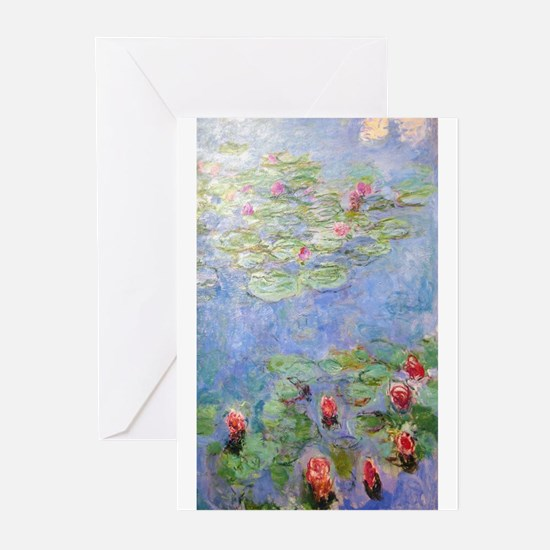Claude Monet's Water Lilies Greeting Cards