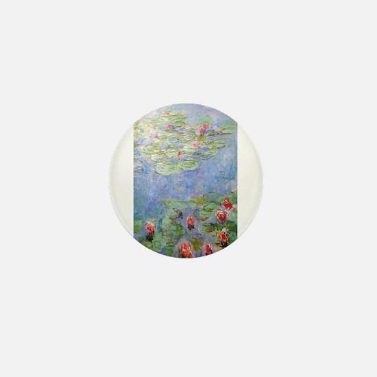 Claude Monet's Water Lilies Mini Button