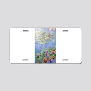 Claude Monet's Water Lilies Aluminum License Plate