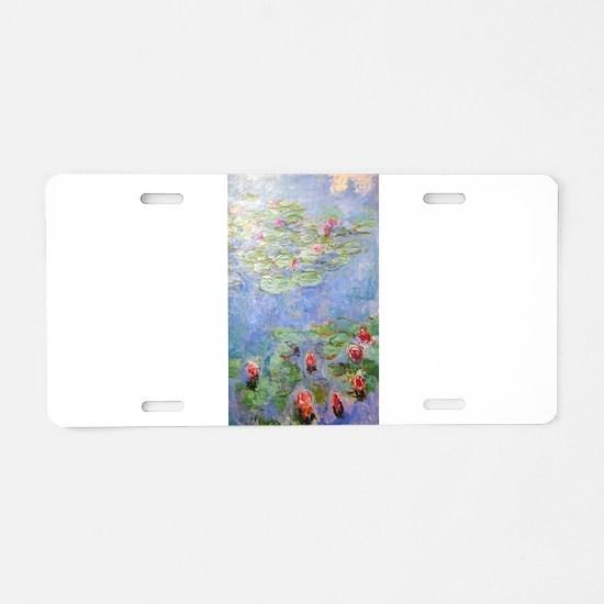 Claude Monet's Water Lilies Aluminum License Plate
