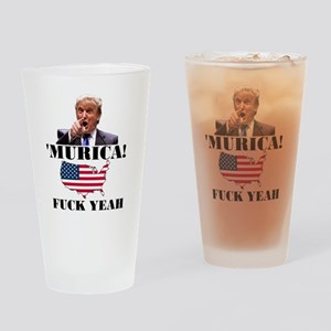 Trump Murica Fuck Yeah Drinking Glass