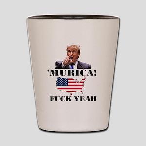 Trump Murica Fuck Yeah Shot Glass