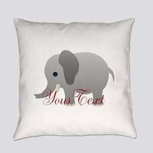 Elephant Personalize Everyday Pillow
