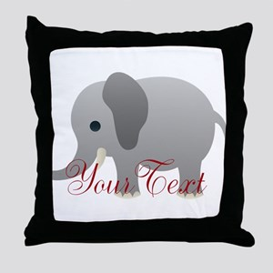 Elephant Personalize Throw Pillow