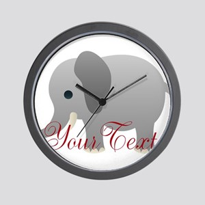 Elephant Personalize Wall Clock