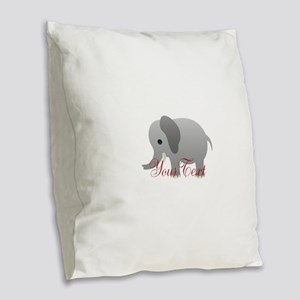 Elephant Personalize Burlap Throw Pillow