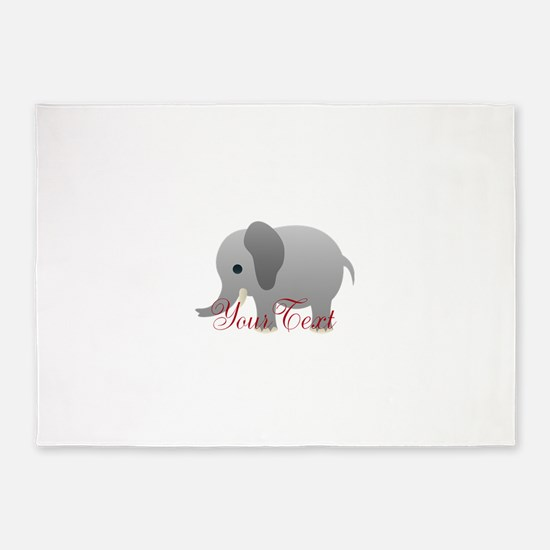 Elephant Personalize 5'x7'Area Rug