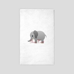 Elephant Personalize Area Rug