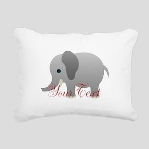 Elephant Personalize Rectangular Canvas Pillow