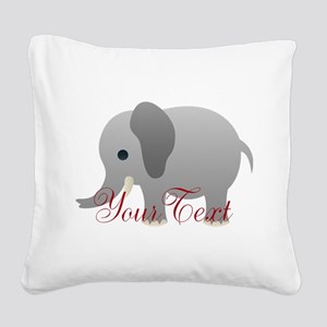 Elephant Personalize Square Canvas Pillow