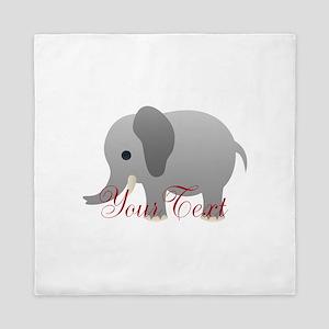 Elephant Personalize Queen Duvet
