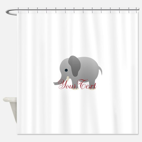Elephant Personalize Shower Curtain