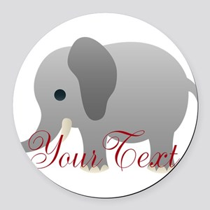 Elephant Personalize Round Car Magnet