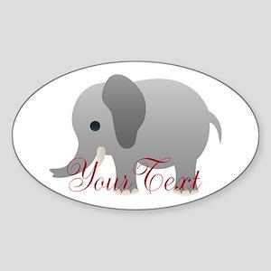 Elephant Personalize Sticker