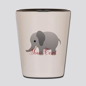 Elephant Personalize Shot Glass
