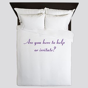 Help or Hinder Queen Duvet