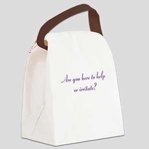 Help or Hinder Canvas Lunch Bag