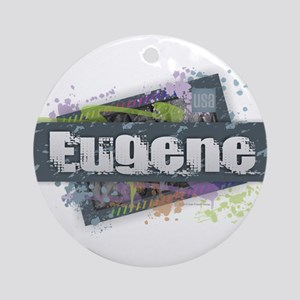 Eugene Design Round Ornament