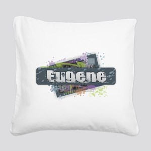Eugene Design Square Canvas Pillow