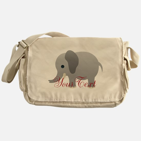 Elephant Personalize Messenger Bag