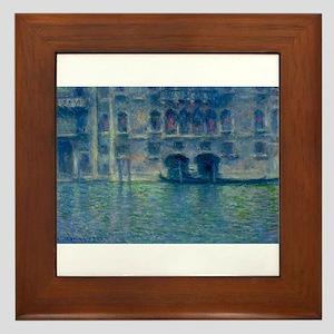 Claude Monet's Palazzo da Mula in Veni Framed Tile