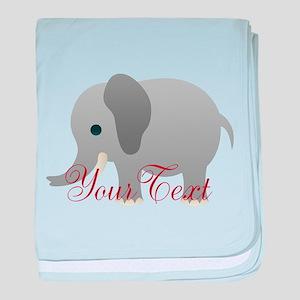 Elephant Personalize baby blanket