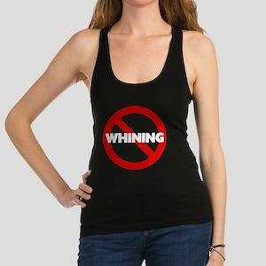 FIN-no-whining-WonB Racerback Tank Top