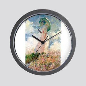 Claude Monet's Woman with a Parasol, St Wall Clock