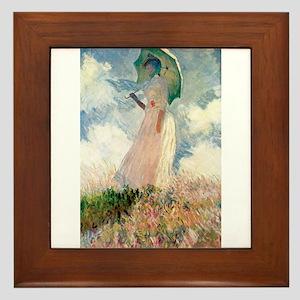 Claude Monet's Woman with a Parasol, S Framed Tile
