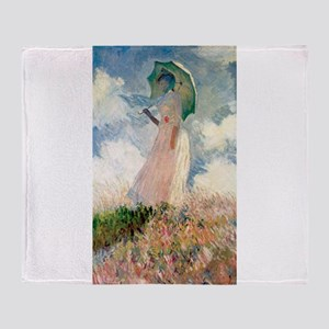 Claude Monet's Woman with a Parasol, Throw Blanket