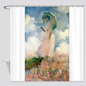 Claude Monet's Woman with a Parasol Shower Curtain