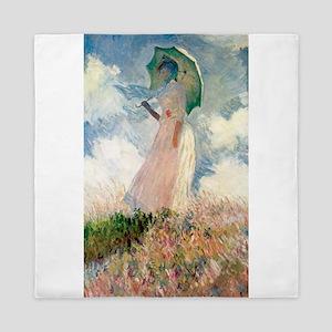 Claude Monet's Woman with a Parasol, S Queen Duvet